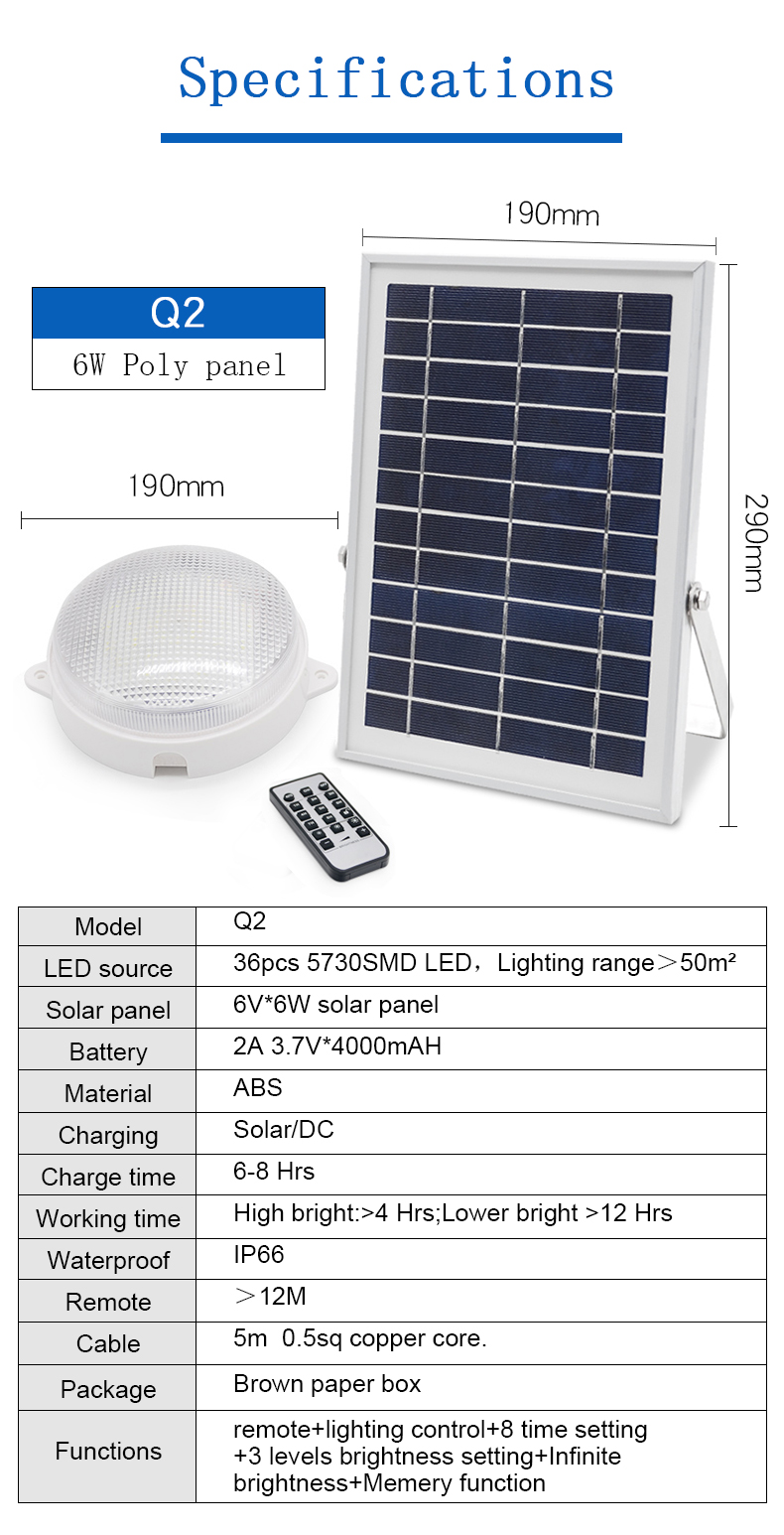 Solar balcony lamp corridor wall lamp with dual charge way water proof solar light IP65