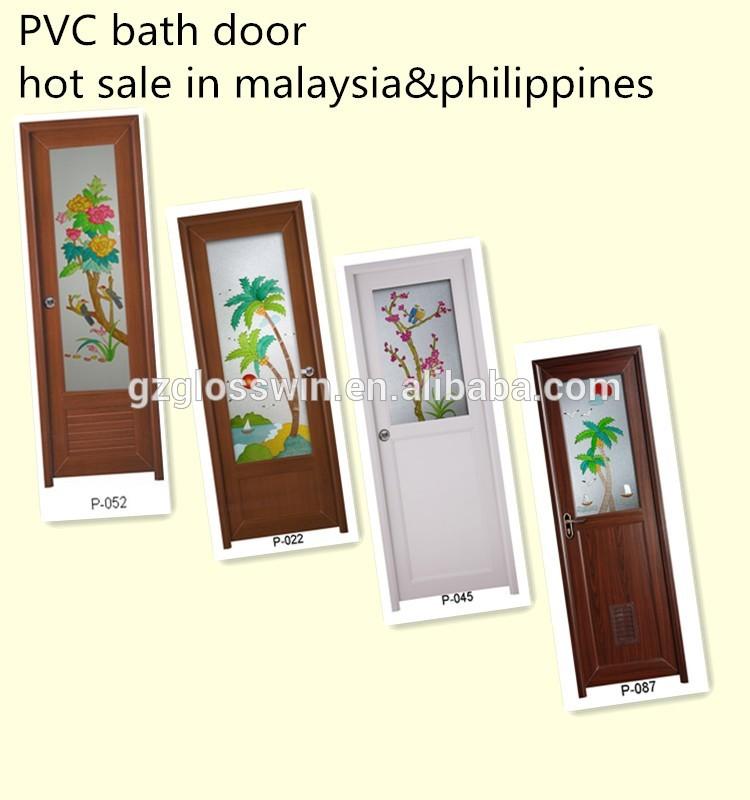 latest design bathroom pvc kerala door prices