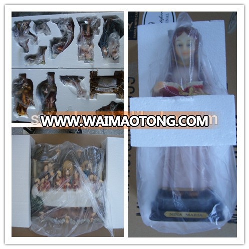 Catholic Christian article of resin 13'' Our Lady of Guadalupe Holy Water Font