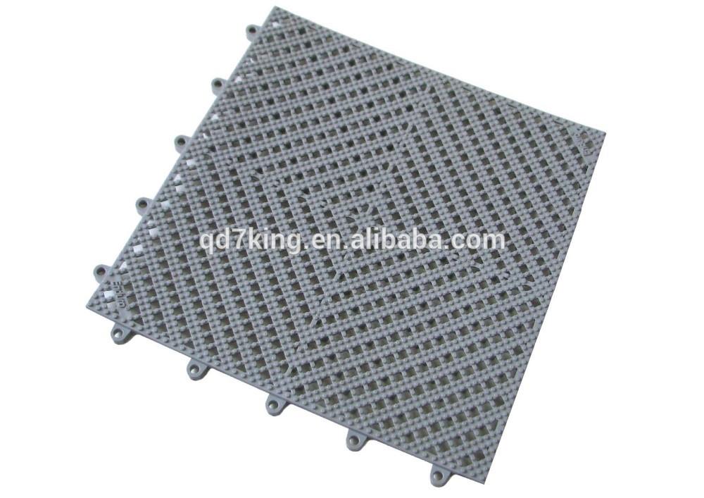 QINGDAO 7KING lowes outdoor safety printed plastic PVC Floor Mat tiles bathroom