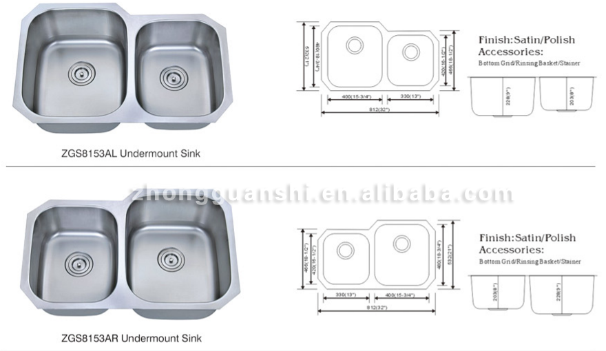 Hand Made Single Bowl Stainless Steel Sink