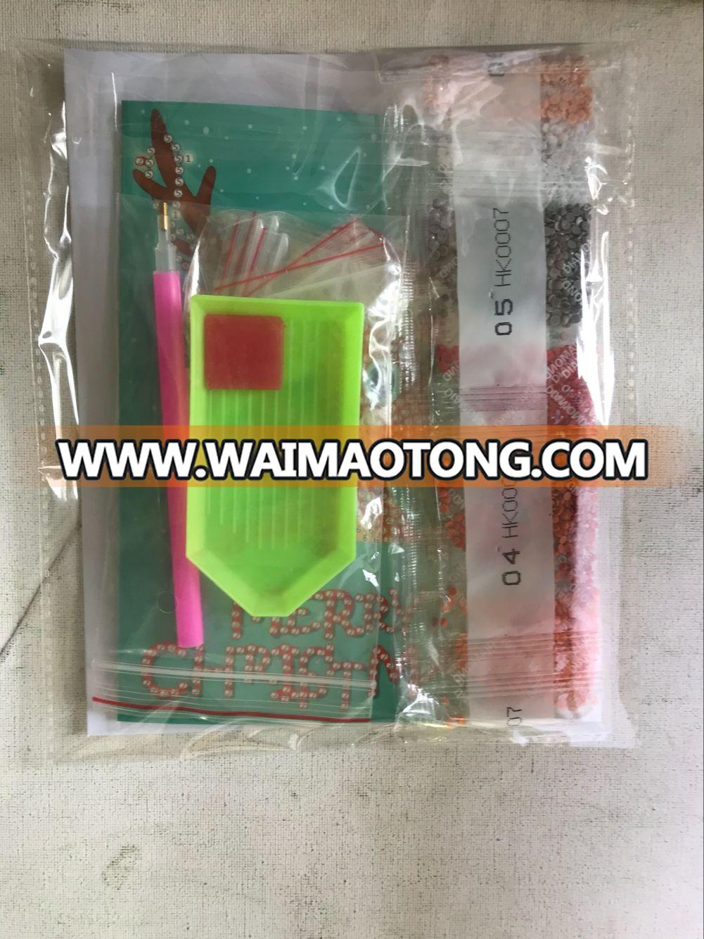Christmas Greeting Cards DIY 5D Diamond Painting for Christmas Gift 8 pcs each set