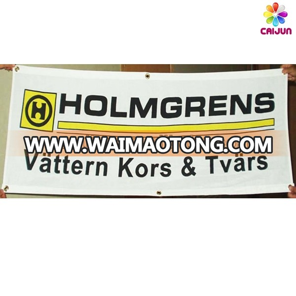 Custom high quality outdoor wall mounted hanging vertical fabric banner