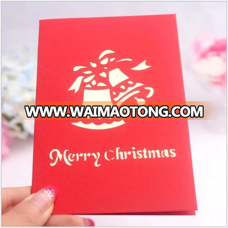 Ywbeyond 3D christmas tree greeting paper card 3D christmas thank you card happy new year paper craft