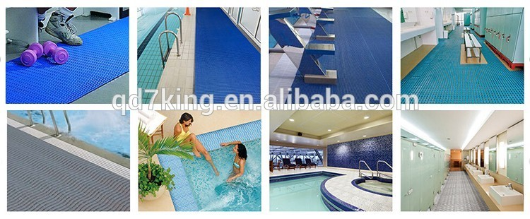 QINGDAO 7KING vinyl 4m non-slip PVC Floor Mat tile for swimming pool