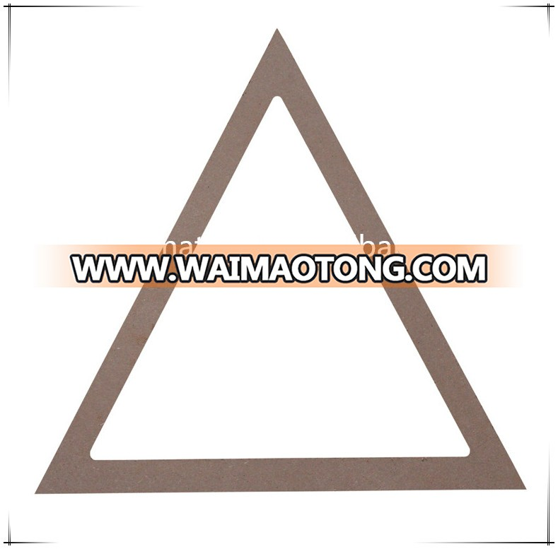 Triangle shape MDF stretched canvas