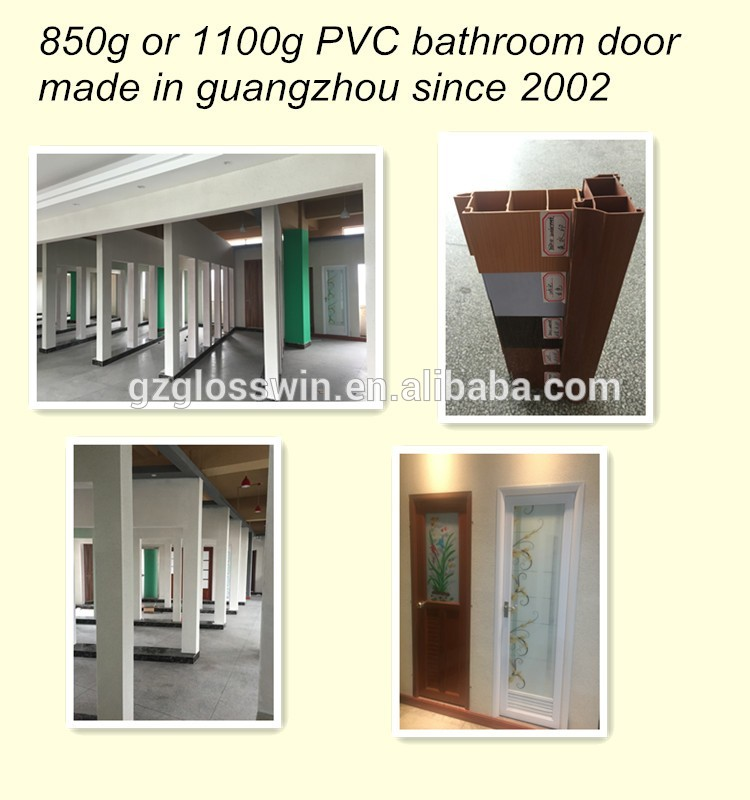 cheap cost pvc bathroom door price india produce from guangzhou factory