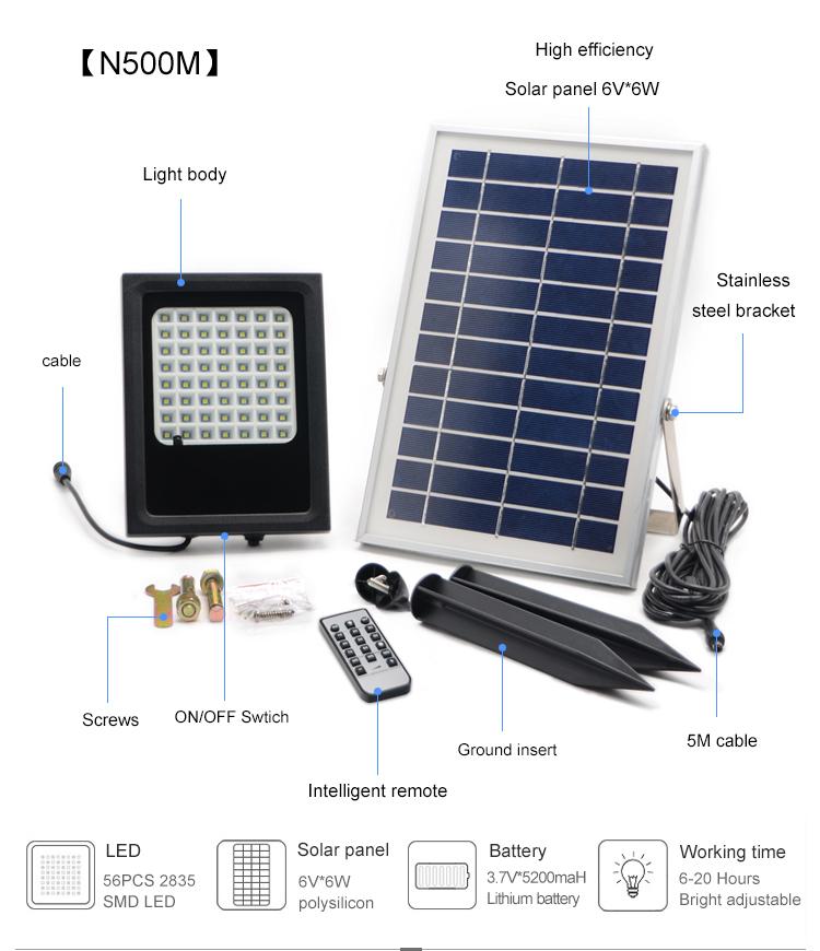 Solar floor light solar powered light solar spotlight for garden
