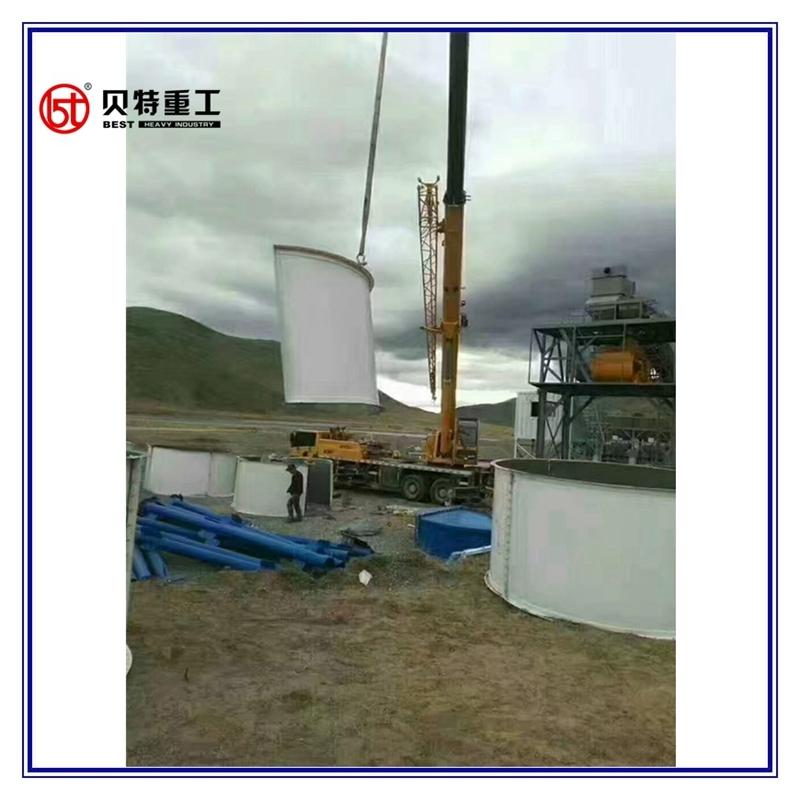 Non Mobile 80 Ton Per Hour Asphalt Mixing Equipment with Detachable Silo