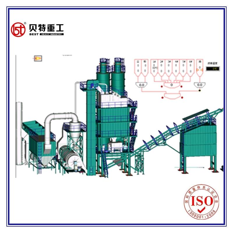 Digi Burner Environment Protection 120 T/H Hot Mix Asphalt Mixing Equipment