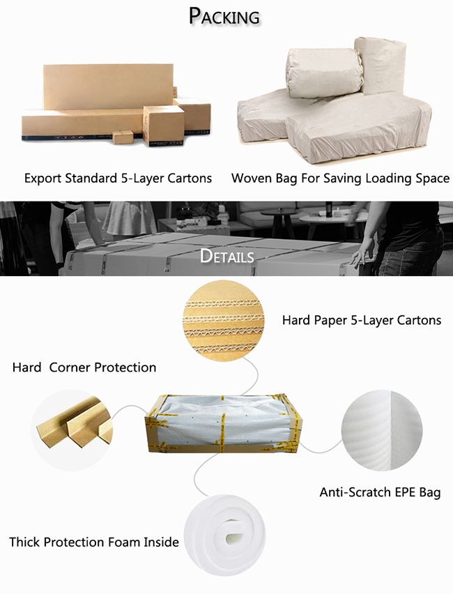 Luxury Living Room Khaki Nubuck Leather Chesterfield Sofa Furnitures