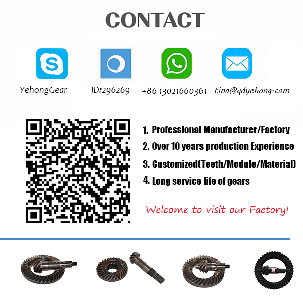 BS0450 7/43 Helical Bevel Gear Precision Meteal in Rear Drive Axle of Truck Spiral Bevel Gear
