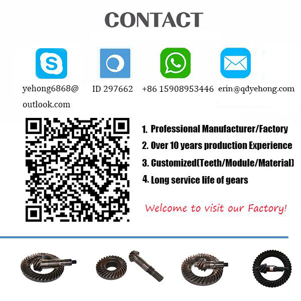BS5054 11/40 Precision Metal Tractor Horse Power 120-140 Auto Parts in Front Drive Axle Spiral Bevel Gear
