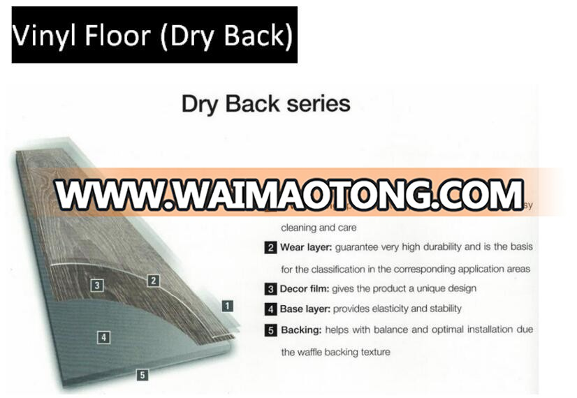 Made in China click lock pvc flooring