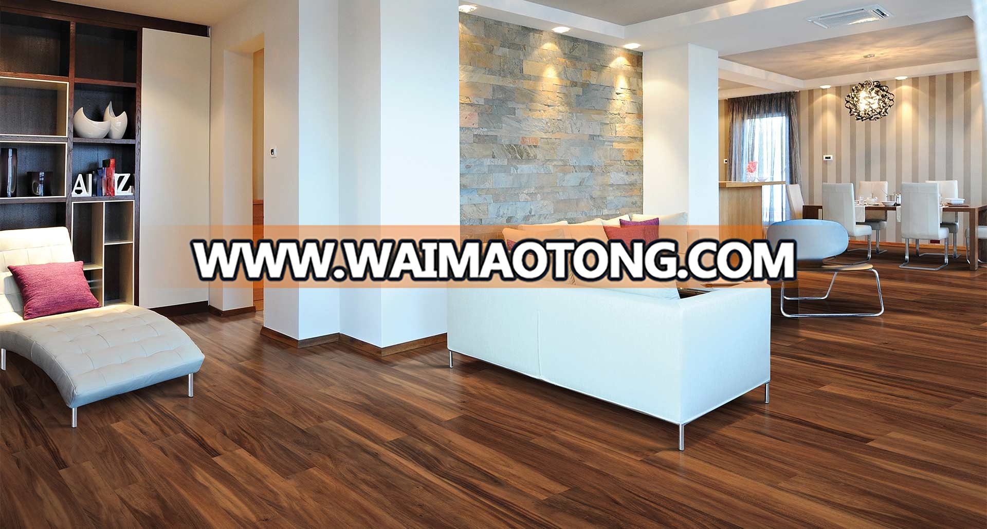 Custom high gloss glitter laminate flooring