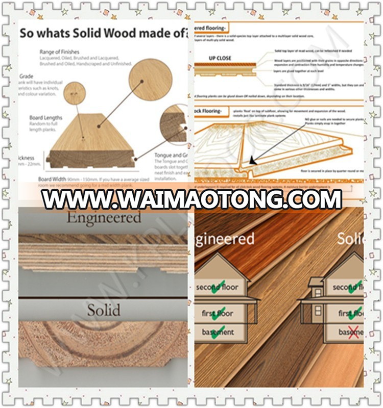RL/910*125*18mm oak solid wood flooring