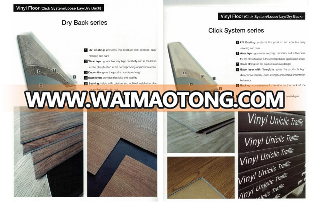 texture pvc vinyl floor with waterproof